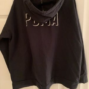 Puma boxy black sweatshirt